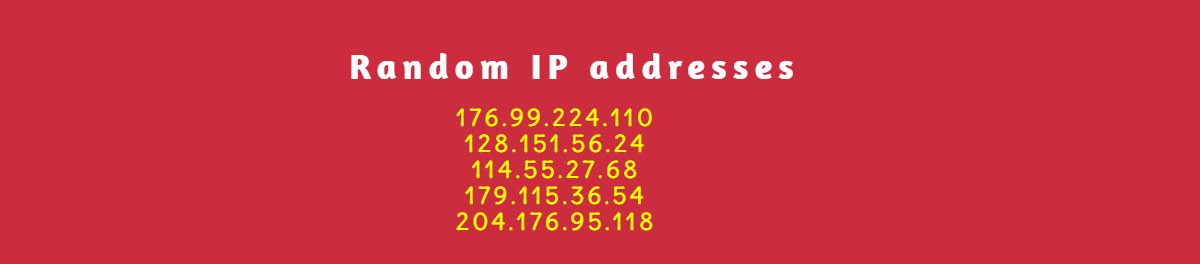 random IP address